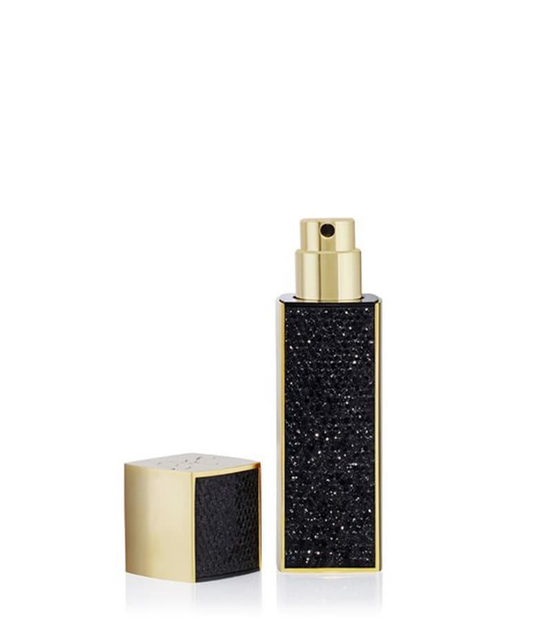 Black glitter travel spray
